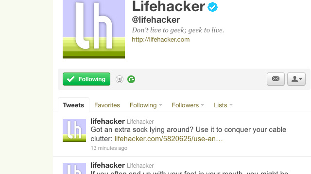Follow Lifehacker and Its Writers on Twitter for Top Stories and to Help Out with Upcoming Stories