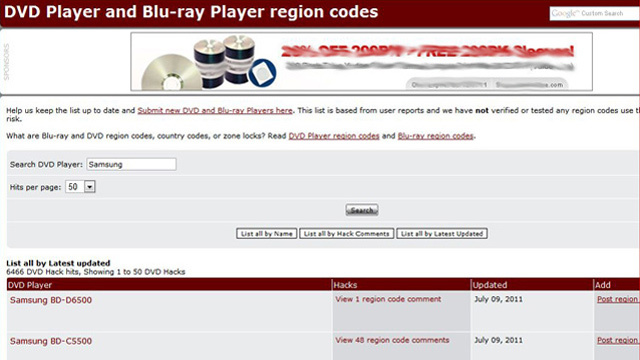 DVD Hacks Database Contains Instructions to Unlock Region-Free Mode for Hundreds of DVD Players