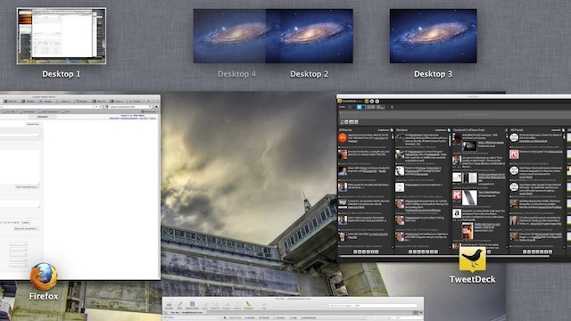Rearrange Spaces in Mac OS X Lion by Dragging and Dropping