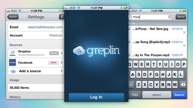 Greplin Searches Your Personal Cloud Data on Your iPhone