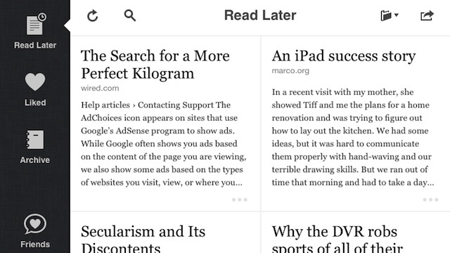 Instapaper Updates With Redesigned Interface, App Directory, and More