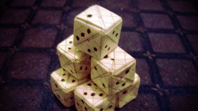 how to make your own dice out of paper