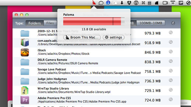 Broom Monitors Your Disk Space and Helps You Tidy Up When You're Running Low