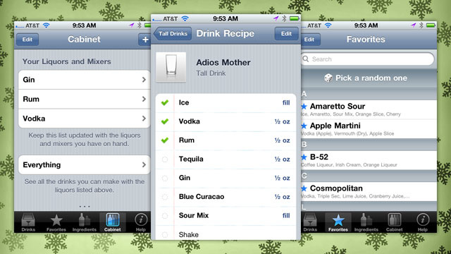Top Shelf Drinks Turns Your iPhone into a Bartender's Black Book