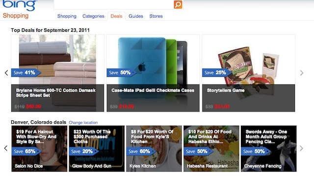 Bing Deals Aggregates Daily Deals From Groupon, LivingSocial and More