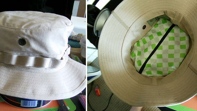 Create a Secret Compartment in Your Hat to Keep Your Valuables Hidden
