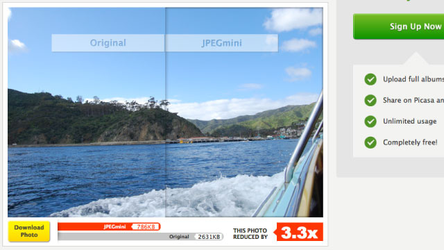 JPEGmini Shrinks Photos' File Sizes Online, Without Reducing Quality