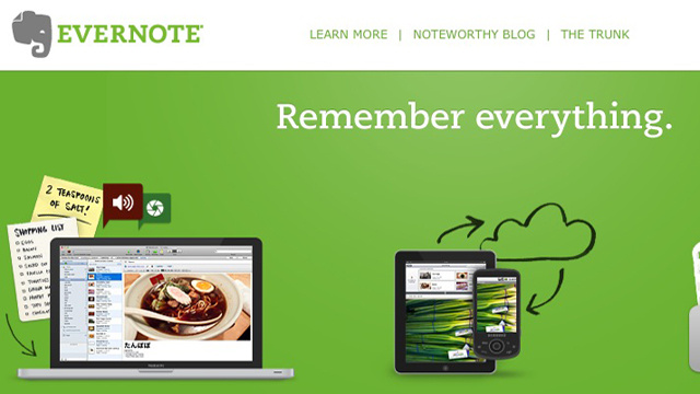Most Popular Note Taking Application: Evernote