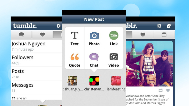 Tumblr for Android 2.0 Manages Multiple Blogs, Sports a New Easy-To-Use Interface