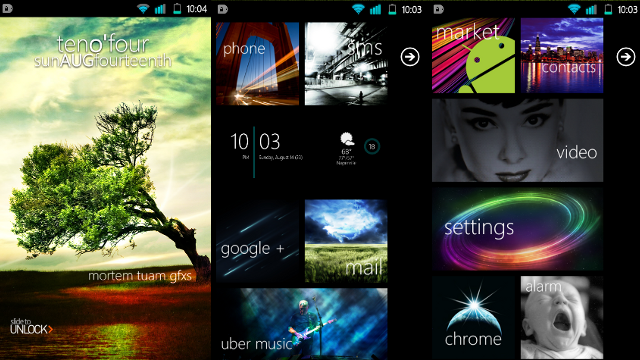 The Andro-Metro Home Screen