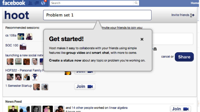 Hoot Turns Facebook into a Study Hall and Project Collaboration App