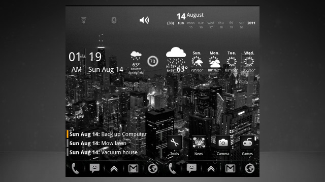 The Chicago Skyline Home Screen