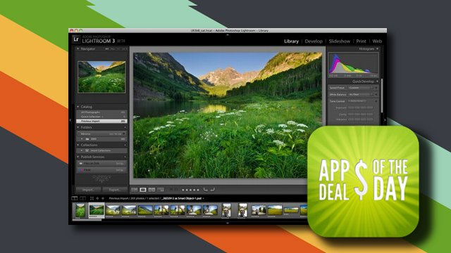 Daily App Deals: Digital Photo Organizer and Editor, Adobe Lightroom, 50% Off Today Only