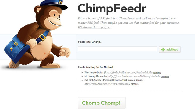 ChimpFeedr Mashes Up Various Feeds into a Single, Master RSS Feed