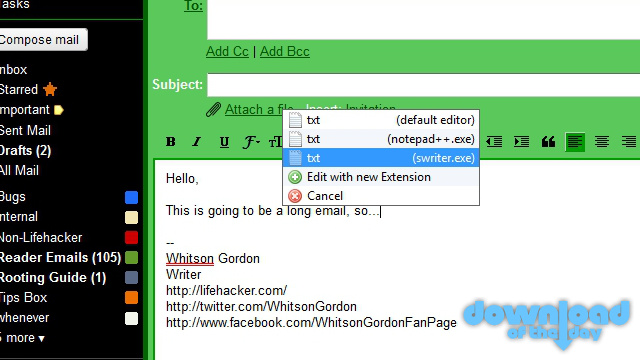 Text Editor Anywhere Moves Text From Any Program to Your Favorite Text Editor