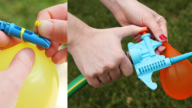 Tie Knot Water Balloon Filler Loads Water Balloons So Easily, Kids Can Do It
