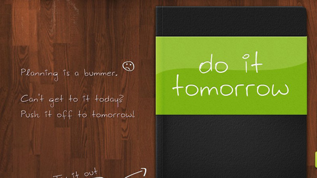 Do It (Tomorrow) Brings Focused To-Do Management to the Web