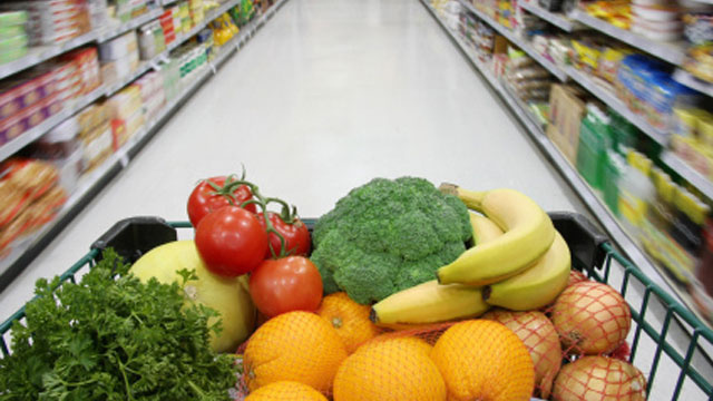 Use a Cart Instead of a Basket for Healthier Choices at the Grocery Store