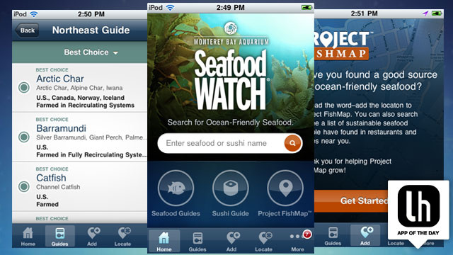 Seafood Watch for iPhone and Android Makes It Easy to Find and Choose Sustainable Seafood