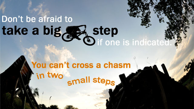 """You Can't Cross a Chasm in Two Small Steps"""