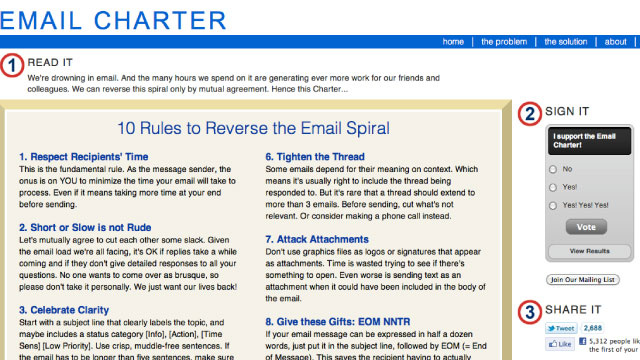 Email Charter Lays Out 10 Rules to Save Us All from Drowning in Email