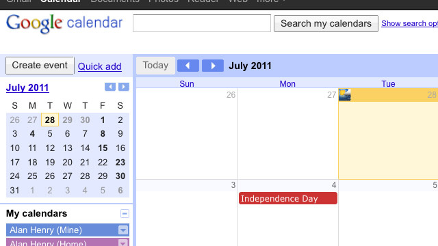 Most Popular Calendaring Application: Google Calendar