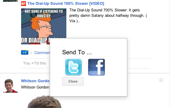 Extended Share for Google Plus Extension for Chrome Adds Sharing with Twitter and Facebook