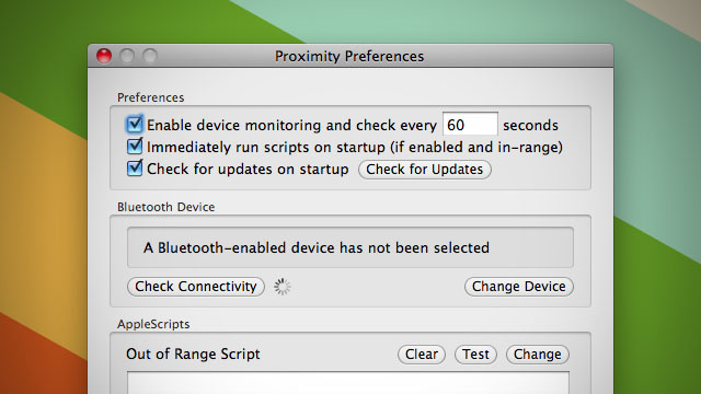 Proximity Runs Scripts on Your Mac When Bluetooth Devices Are Near or Far