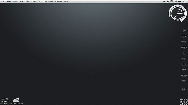 Monotone Info Bar Desktop