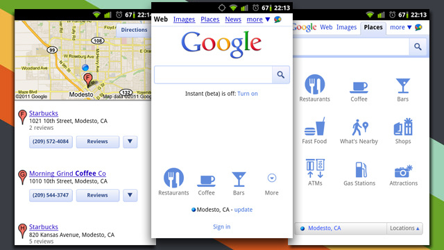 Google Mobile Search Now Featuring Places Integration