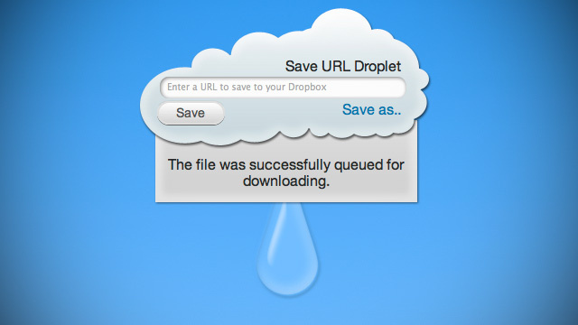 URL Droplet Downloads Files from a Web Address Straight to Your Dropbox