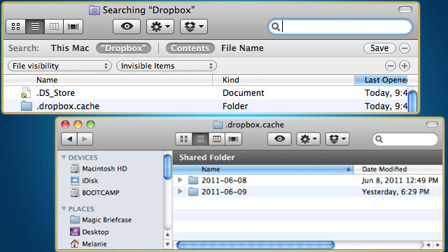 Free Up Disk Space by Deleting Files in the Hidden Dropbox Cache Folder