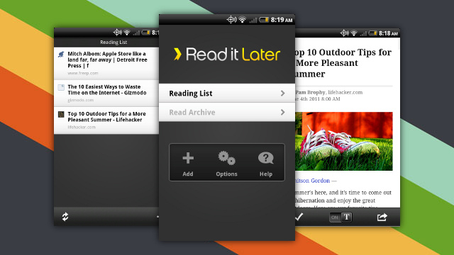 Read It Later Releases a Free Version of Their Offline Reader for Android