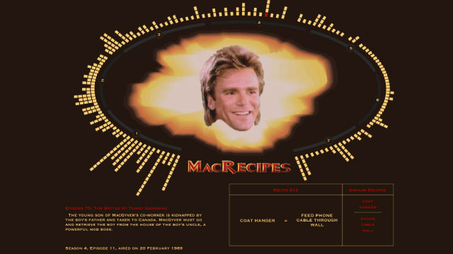 The Ultimate MacGyver Recipe Book Rounds Up All of Mac's Clever Hacks