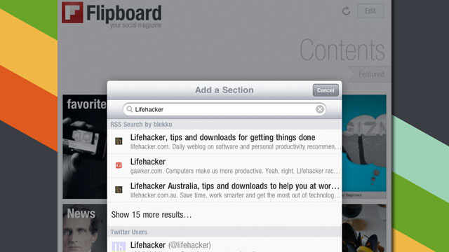 Flipboard Integrates Blekko Search for Finding New RSS Feeds on the iPad's Social Magazine