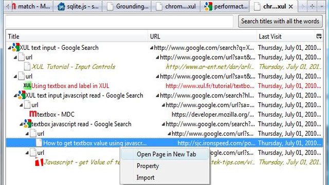 FromWhereToWhere Threads Your Firefox Browsing History