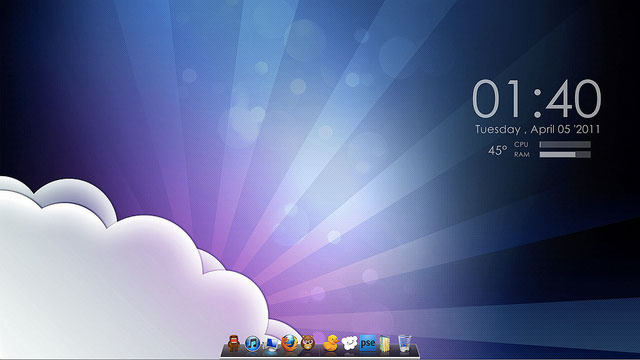 Purple Sunshine Desktop
