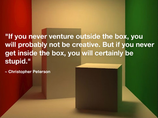 Before You Think Outside the Box, Think Inside of It