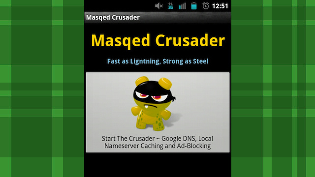 Masqed Crusader Boosts Your Android Phone's Browsing Speed with One Tap