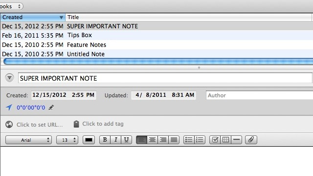 Keep Evernote Notes at the Top of the List