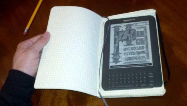DIY Moleskine Kindle Case Offers Protection and Space for Notes