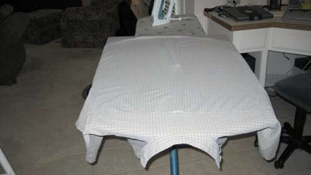 DIY Ironing Board Expansion Churns Through Shirt Ironing