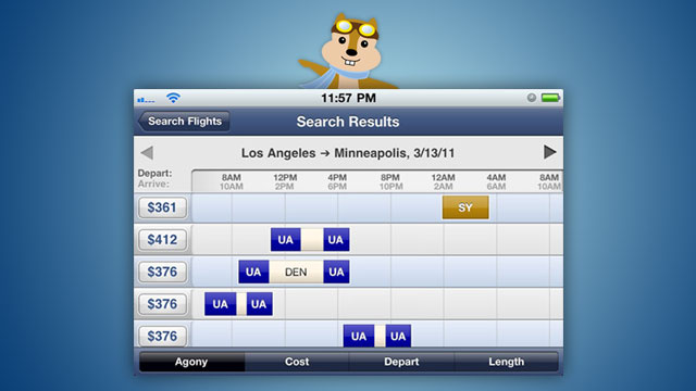 Hipmunk Flight Search Brings the Excellent Webapp to iOS