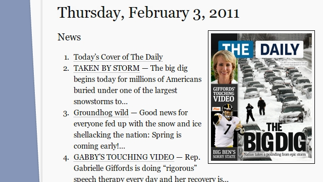 "Read ""The Daily"" Free on The Web"
