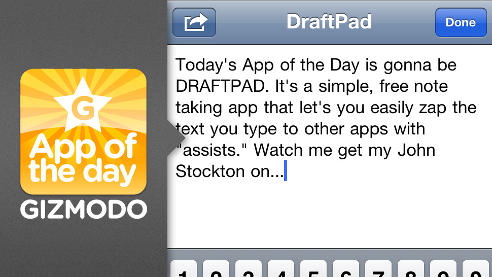DraftPad for iPhone