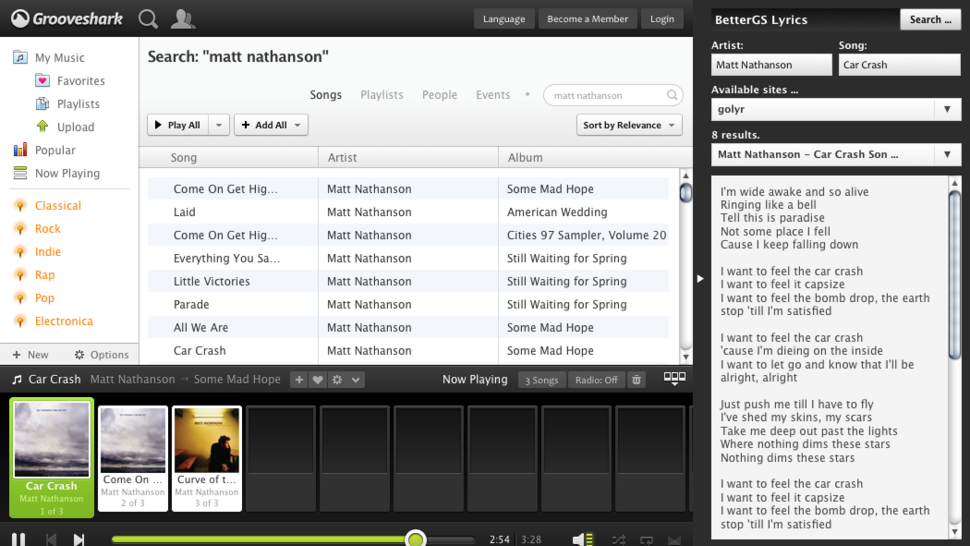 Better Grooveshark Adds Lyrics, Ad Removal to the Web-Based Music Service