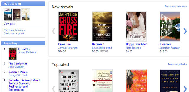 Google eBookstore Opens with 3 Million Titles, Free Android and iOS Reader Apps