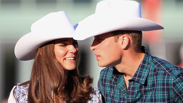 Prince William & Kate Middleton Wear Canadian Cowboy Hats