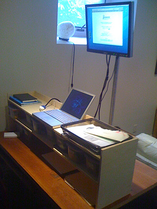 DIY Pole-Based Standing Desk Design