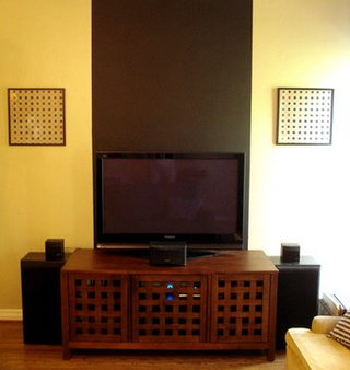 Use Strategically Placed Paint to Camouflage Your Television